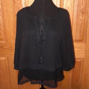 Women's size Medium VS black blouse shirt top